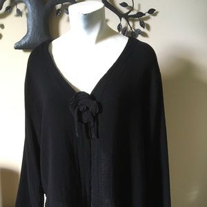 Lightweight Black Jacket, OH MY GAUZE, Sz S/M